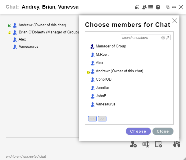 Adding Member to Chat