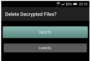 Deleting of decrypted files
